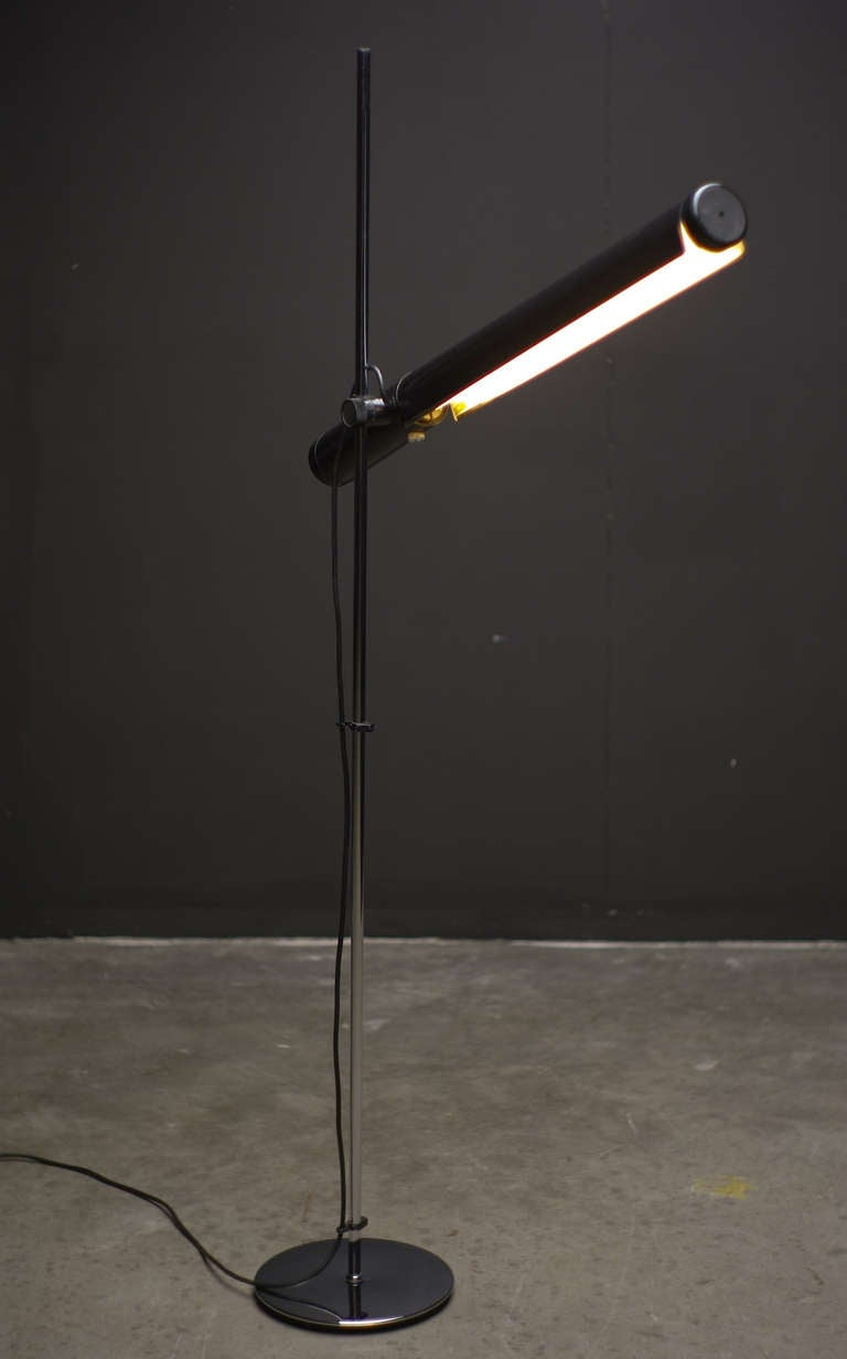 Dutch 1960 39 S Industrial Fluorescent Tube Floor Lamp At 1stdibs