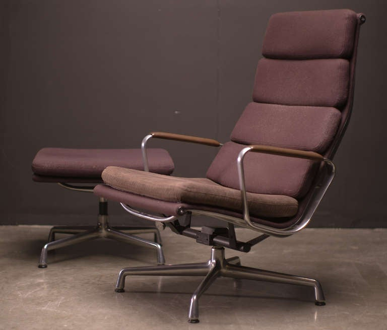 this soft pad lounge chair and ottoman by charles eames is no longer