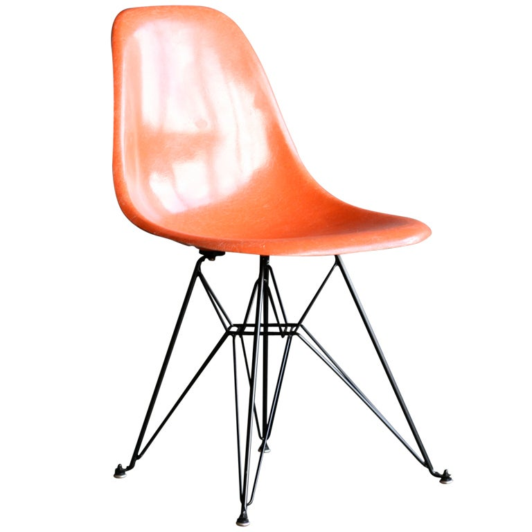 Charles eames bright orange dsr chairs at 1stdibs - Charles eames dsr chair ...