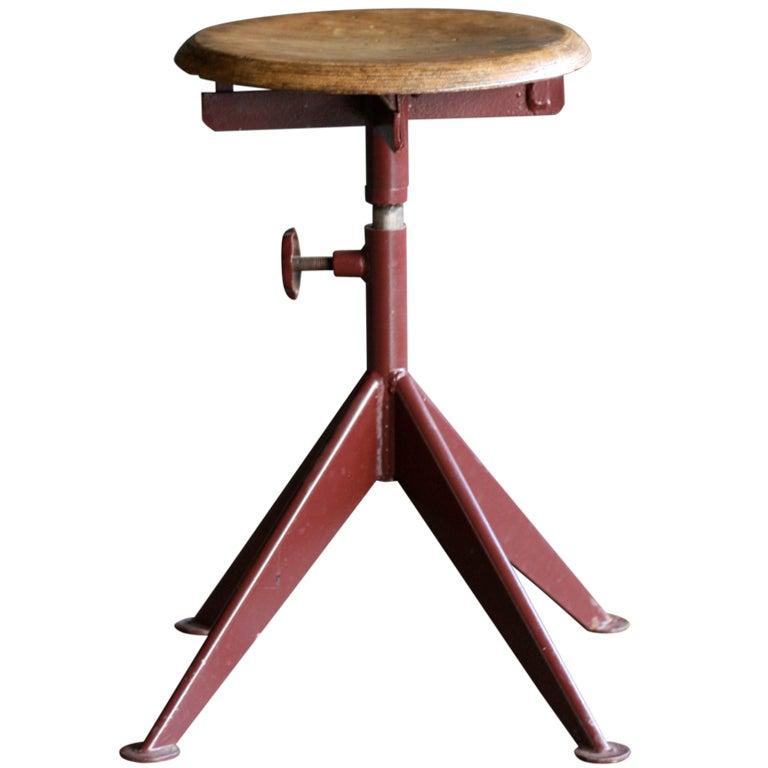 adjustable stool ateliers jean prouv at 1stdibs