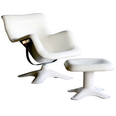 Karuselli lounge chair and ottoman by Yrjo Kukkapuro for Haimi