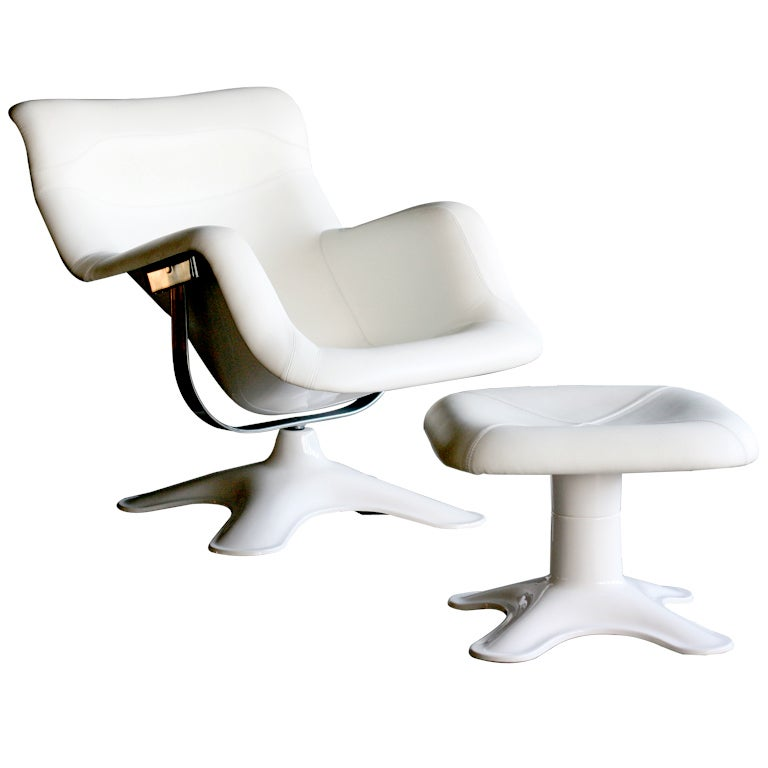 Karuselli lounge chair and ottoman by Yrjo Kukkapuro for Haimi