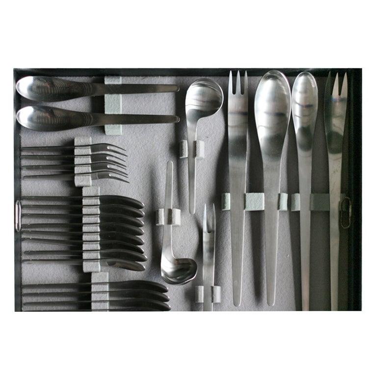 Complete arne jacobsen flatware set in original suitcase at 1stdibs - Arne jacobsen flatware ...