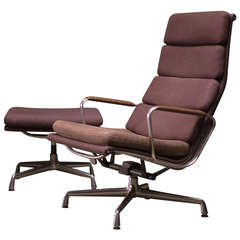 Soft Pad Lounge Chair and Ottoman by Charles Eames