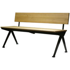Jean Prouvé Banc Marcoule, 1955, G-Star Raw for Vitra Limited Edition Bench