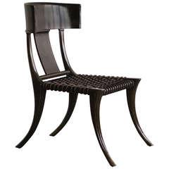 Early T.H. Robsjohn-Gibbings Klismos Chair for Saridis of Athens