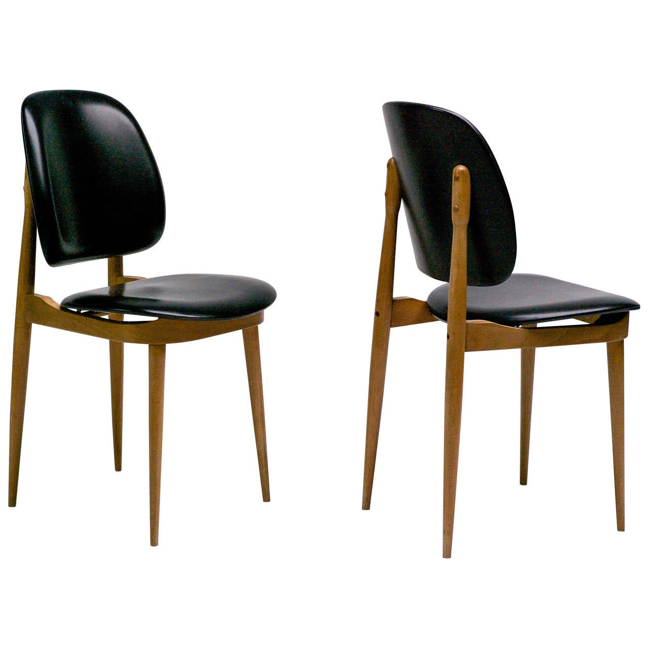 pierre guariche side chairs at 1stdibs. Black Bedroom Furniture Sets. Home Design Ideas