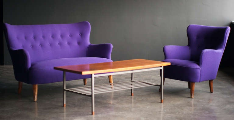 Mid Century Modern lounge chair and table designed by Theo Ruth for Artifort image 10