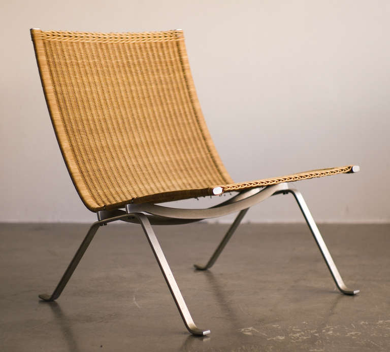 Early Poul Kjaerholm PK22 Lounge Chair For E. Kold Christensen For Sale 1