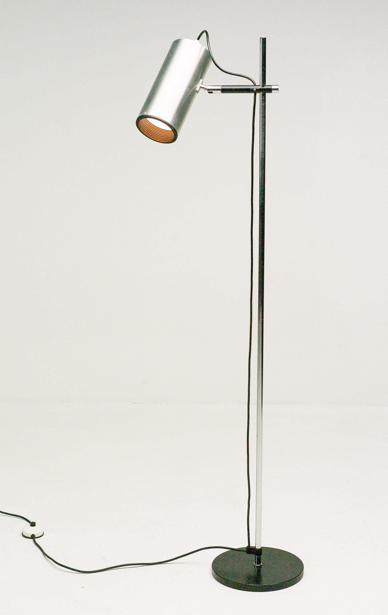 Maria Pergay Stainless Steel Floor Lamp At 1stdibs