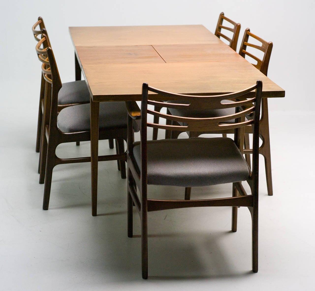 teak 1950s dining room set by johannes andersen denmark