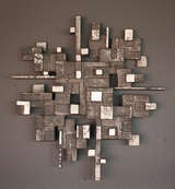 Cast aluminum wall sculpture, circa 1970 image 2