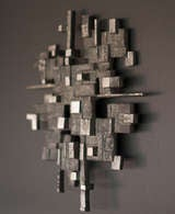 Cast aluminum wall sculpture, circa 1970 image 3