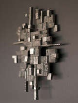 Cast aluminum wall sculpture, circa 1970 image 4