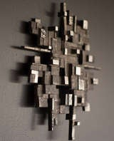 Cast aluminum wall sculpture, circa 1970 image 5