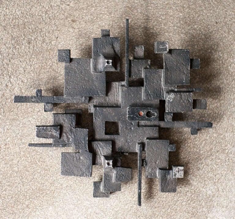 Cast aluminum wall sculpture, circa 1970 6