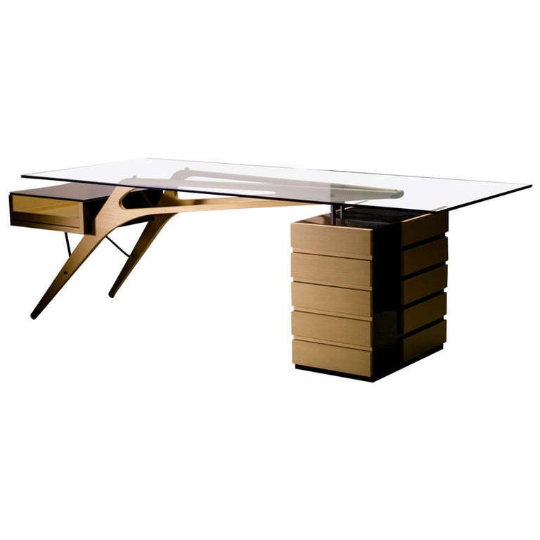 zanotta cavour desk homage to carlo mollino at 1stdibs. Black Bedroom Furniture Sets. Home Design Ideas