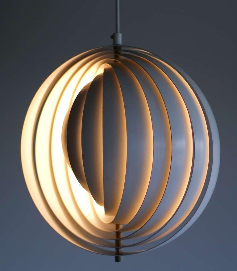 Original Moon Lamp Designed By Verner Panton In 1960 At