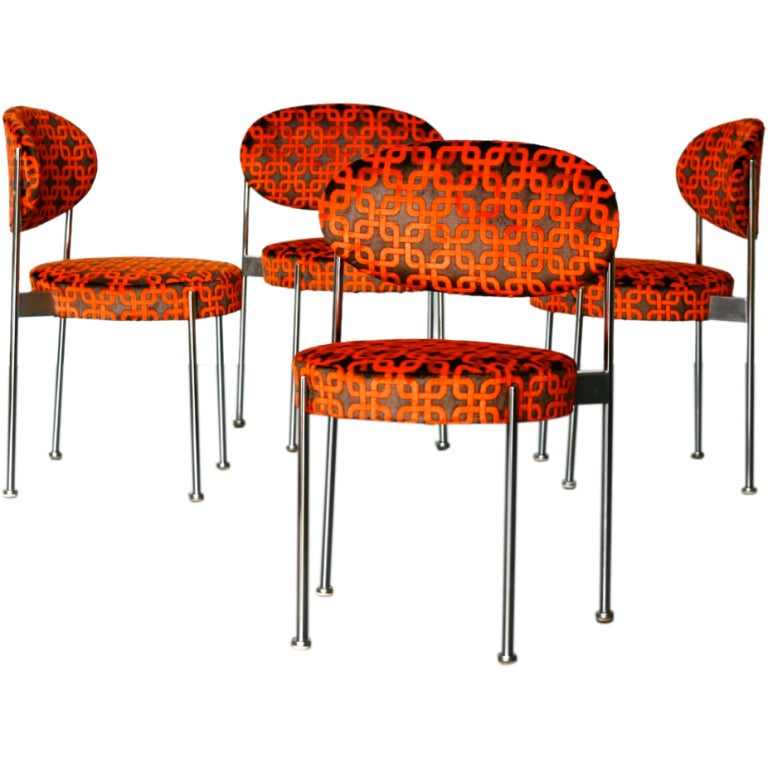 Set Of Four Model No 430 Chairs By Verner Panton For