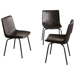 Rare 1950s Side Chairs, Designed by Gio Ponti for Cassina