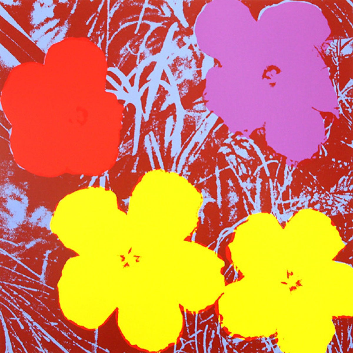 Andy Warhol Flowers Portfolio, 1970 For Sale at 1stdibs