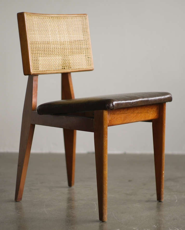 Mid Century Modern George Nelson Original Cane Back Side Chair For