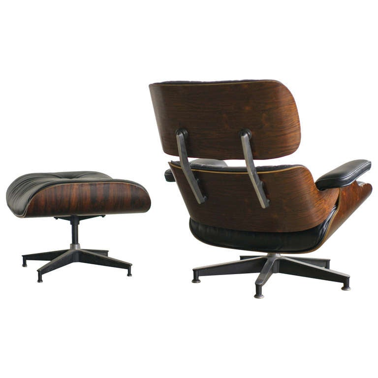 charles eames 670 lounge chair and 671 ottoman for herman miller at