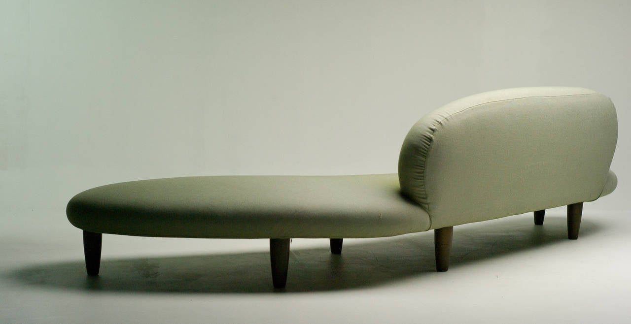 Freeform Sofa In Green Wool By Isamu Noguchi For Vitra Good Condition