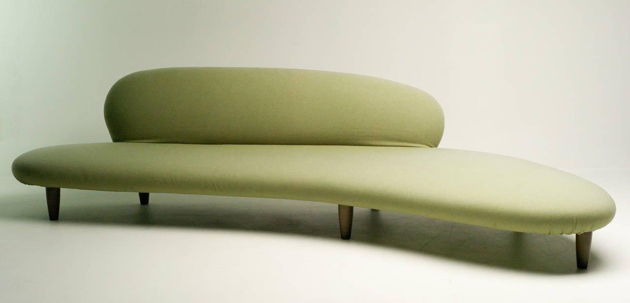 Freeform Sofa in Green Wool by Isamu Noguchi for Vitra at ...