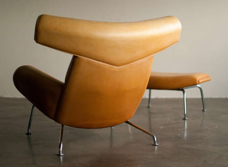 Ox Chair And Ottoman Designed By Hans Wegner At 1stdibs