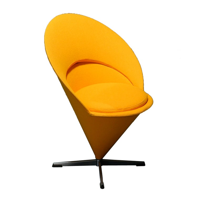 Verner Panton Cone Chair For Plus Linje At 1stdibs