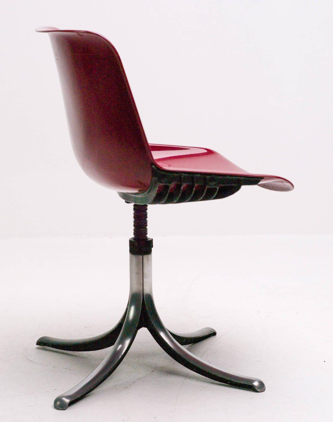 Set of Three Tecno Modus Chairs Designed by Osvaldo Borsani 4