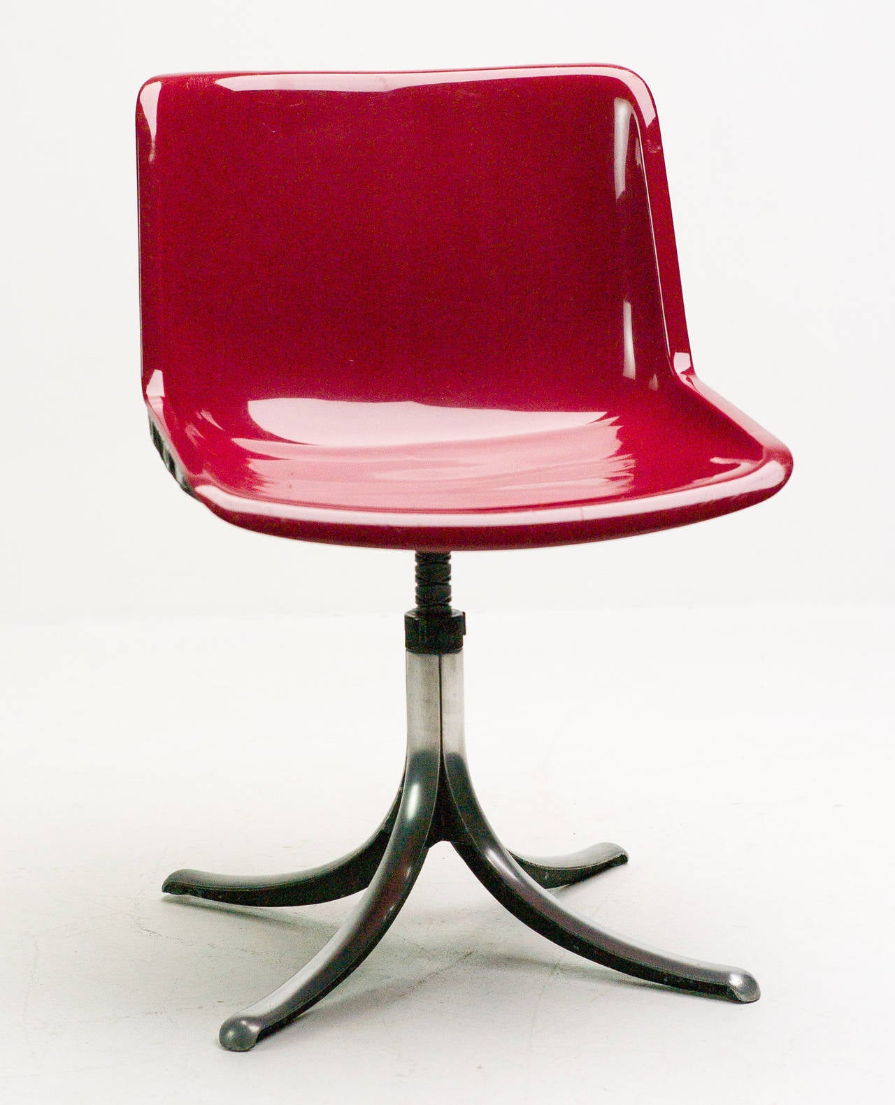 Set of Three Tecno Modus Chairs Designed by Osvaldo Borsani 2