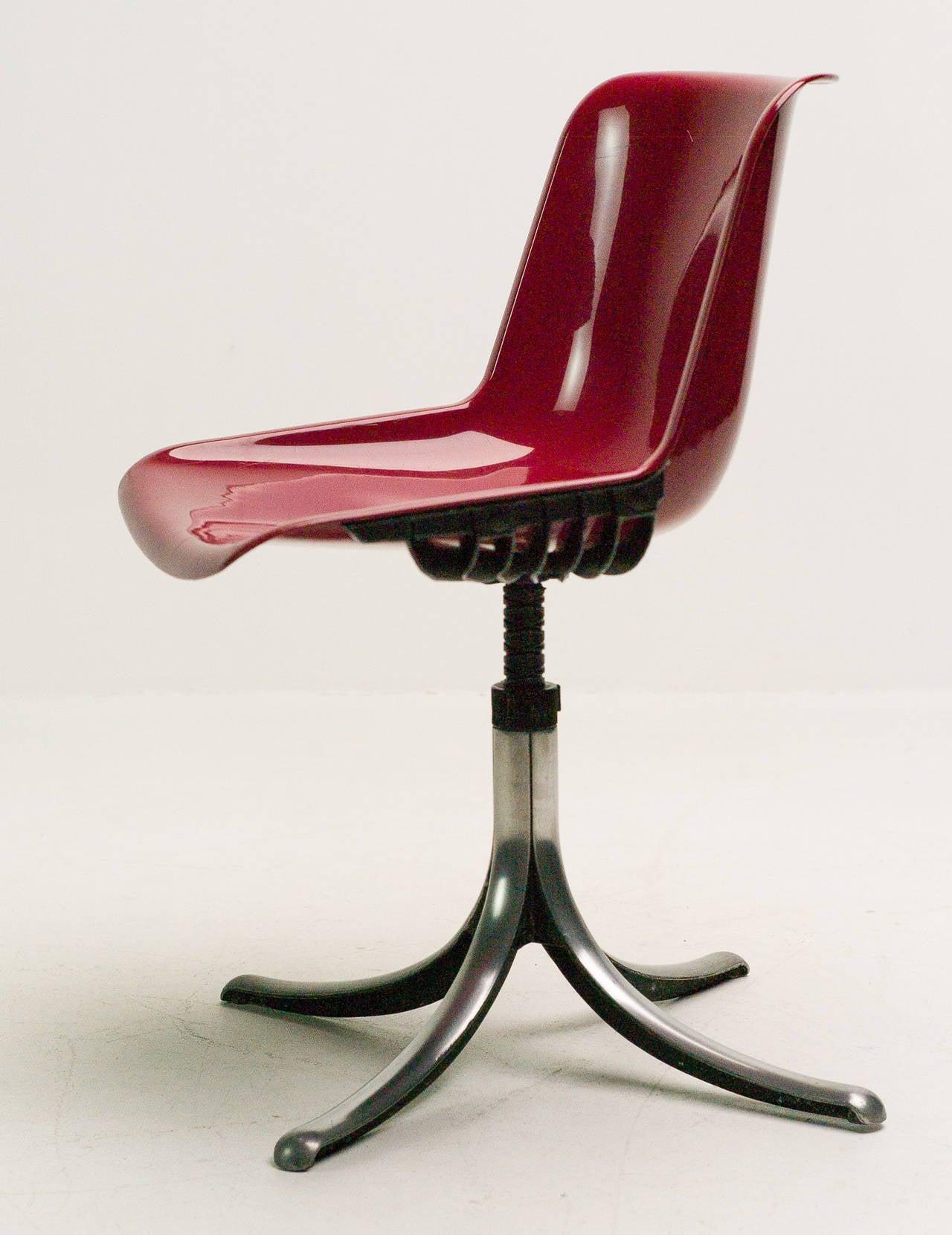 Set of Three Tecno Modus Chairs Designed by Osvaldo Borsani 3