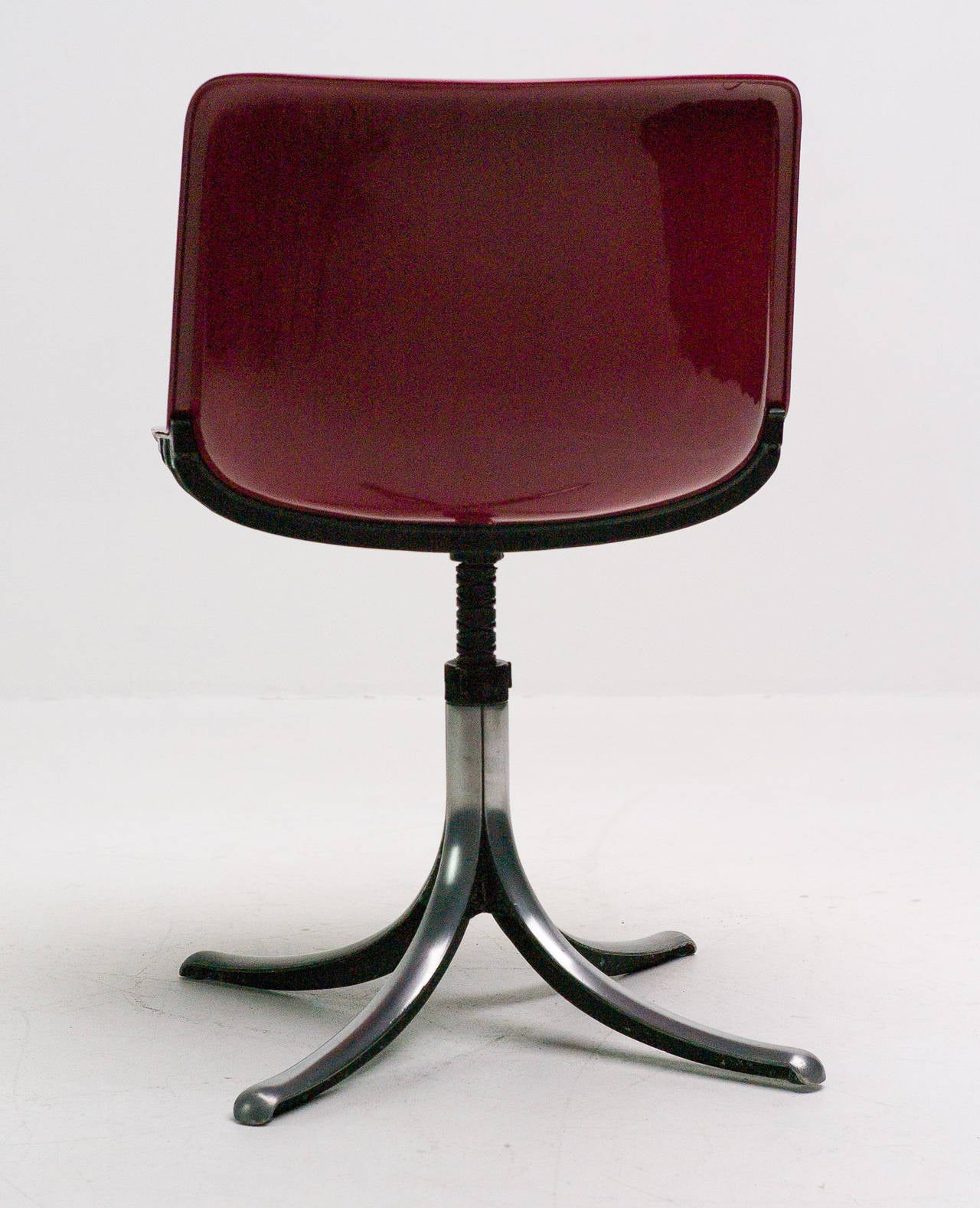 Set of Three Tecno Modus Chairs Designed by Osvaldo Borsani 5