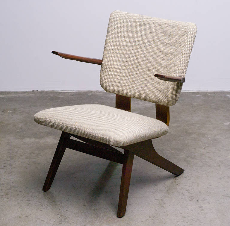 Dutch Mid-Century Modern Lounge Chair, 1952 10