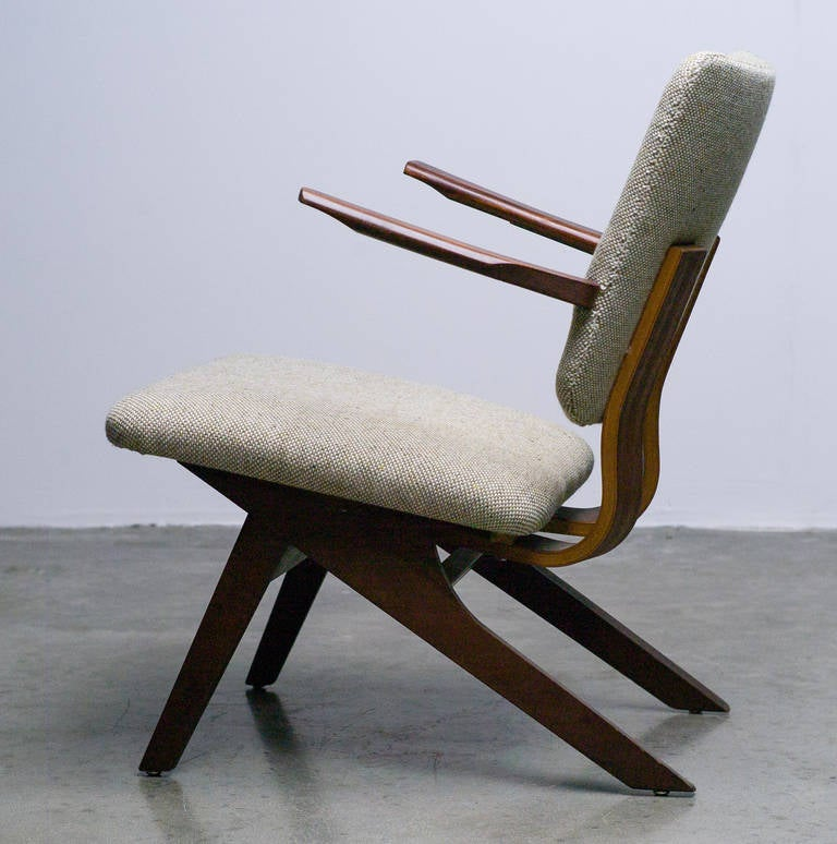 Dutch Mid-Century Modern Lounge Chair, 1952 7