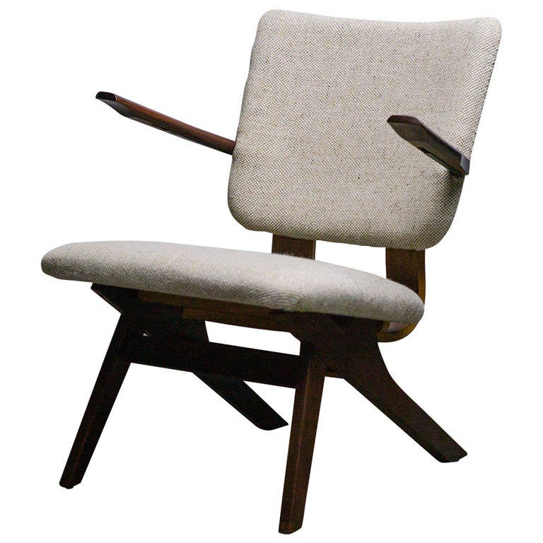 Dutch Mid-Century Modern Lounge Chair, 1952 1