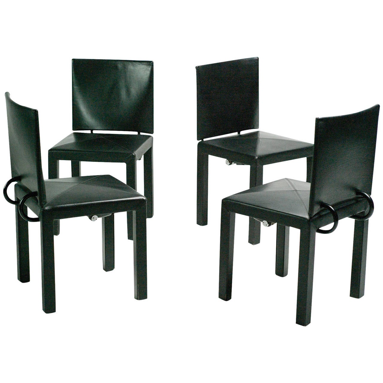 Set of four arcadia chairs by paolo piva for b b italia at for B b italia dining room chairs