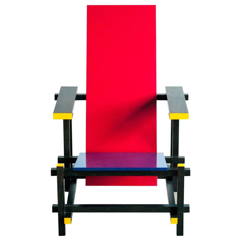 Red Blue Chair By Gerrit Rietveld At 1stdibs