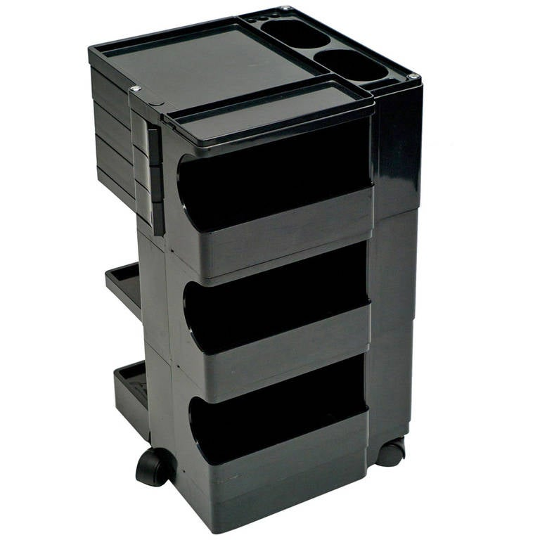 Boby storage trolley in black by joe colombo at 1stdibs for Joe colombo boby
