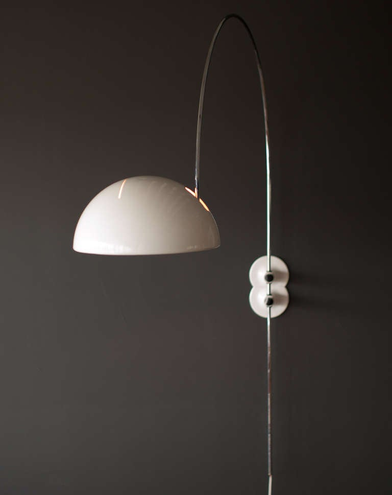 Quirky Wall Lamps : Unusual Model no. 1159 Coupe wall Lamp by Joe Colombo for O-Luce at 1stdibs