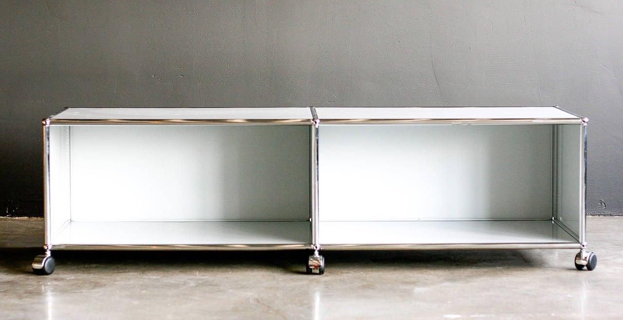 Fritz Haller For Usm Haller Media Shelf On Wheels 3
