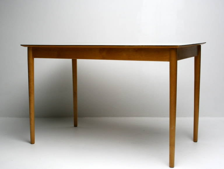 this 1950s dutch kitchen table ash with formica top is no longer
