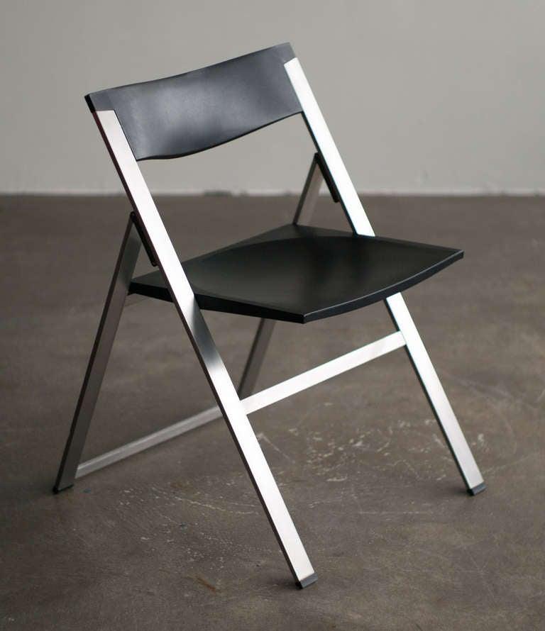 Set Of 6 P08 Folding Chairs Tecno Italy 1991 At 1stdibs