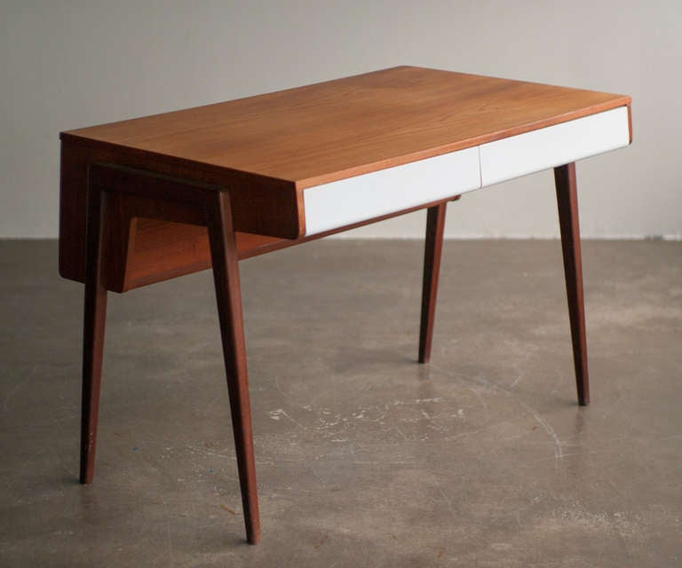 1950 39 S Dutch Mid Century Modern Teak Desk At 1stdibs