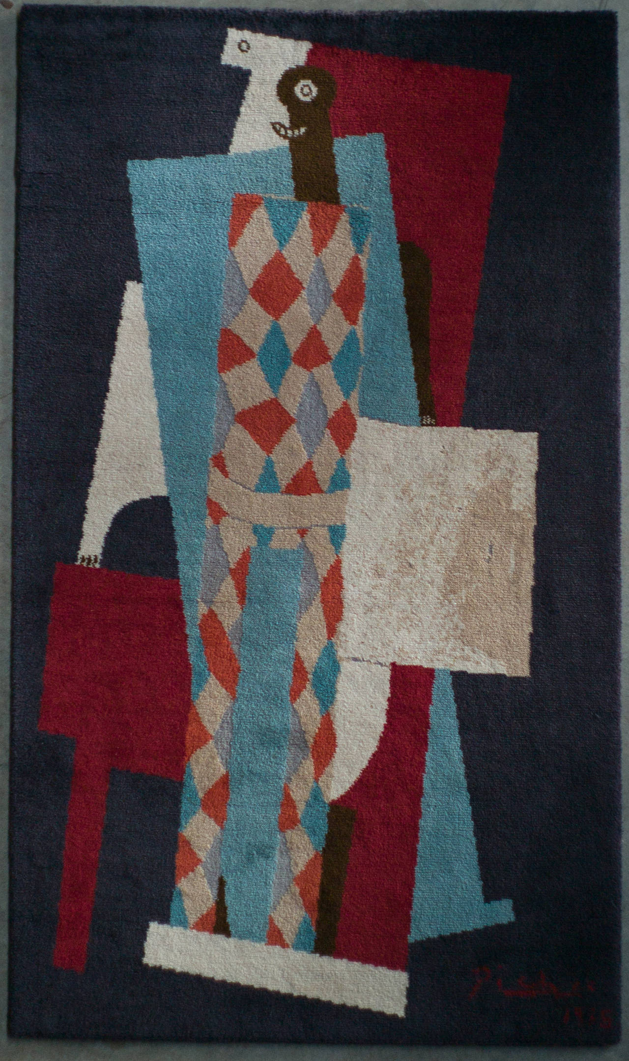 Picasso Tapestry Quot Arlequin Quot 1915 At 1stdibs