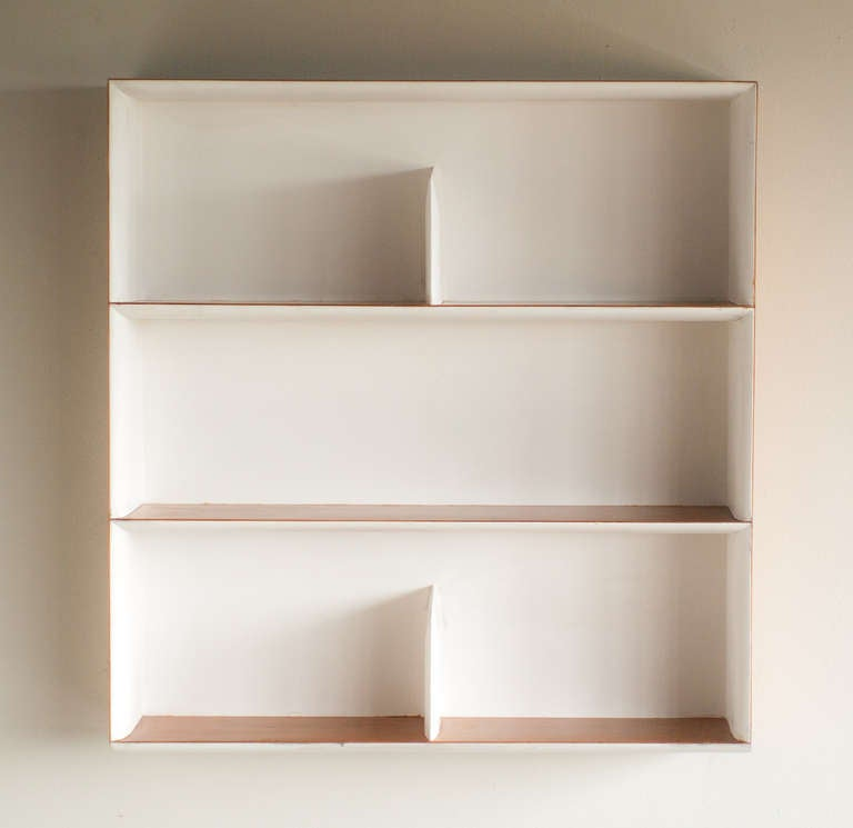 Wall mounted bookcase designed by gio ponti at 1stdibs Wall mounted bookcase shelves