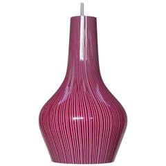 1960s Pendant Lamp Designed by Massimo Vignelli for Venini, Murano Italy