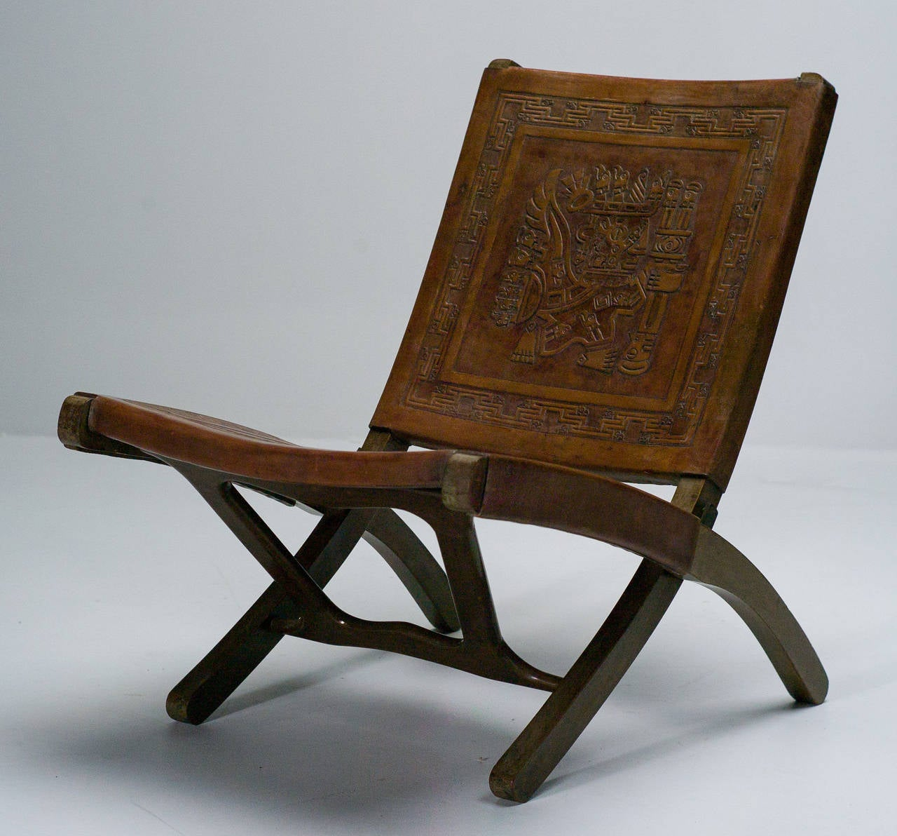Mid Century Ecuadorian Folding Chair at 1stdibs